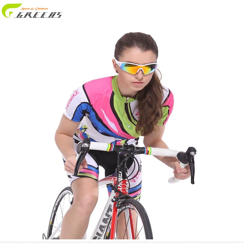 Summer style short mtb Women cycling jersey team breathable cycling clothing ropa ciclismo mujer abbigliamento cycling sets(China (Mainland))