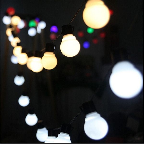 Christmas Novelty Lights Outdoor : New Novelty Outdoor lighting 5cm big size LED Ball string lamps Black wire Christmas Lights ...