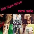 Free shipping 300pcs lot wholesale temporary 3D tattoo Gold tattoo Flash tattoos golden silver body art