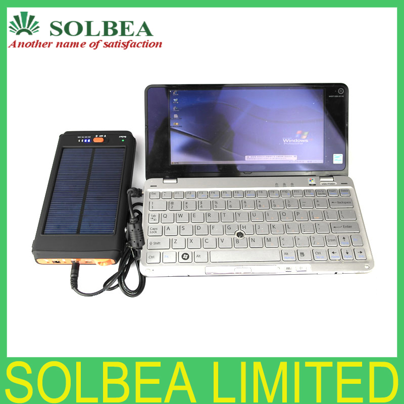 1pc Solar Laptop Power Bank 11200mAh Solar Charger portable Battery external battery Charger For Laptop Tablet PC Mobile phone(China (Mainland))