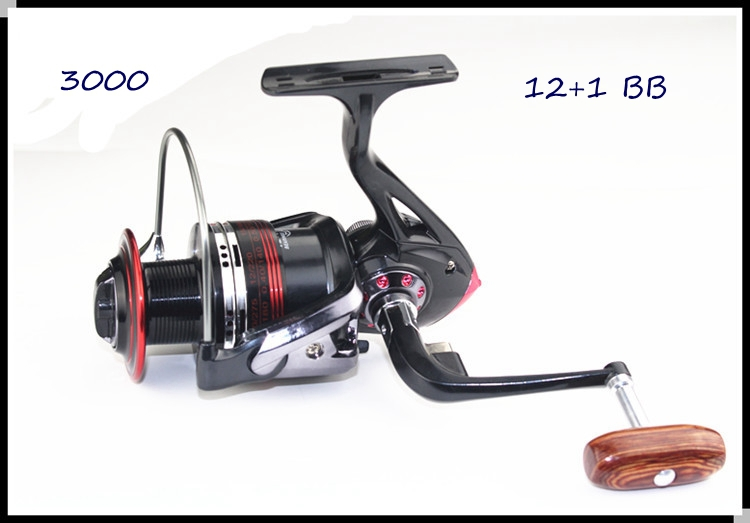 2014 12+1BB High Power Gear Spinning Spool Aluminum Fishing Reel LK3000 Free Shipping g0146(China (Mainland))