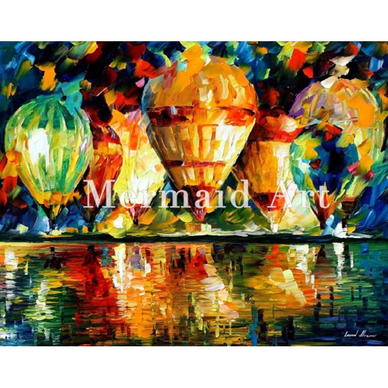 Buy Hand Painted Landscape High Quality Abstract Palette Knife Ballet Of The Soul Oil Painting Canvas Decoration Living Room Artwork cheap