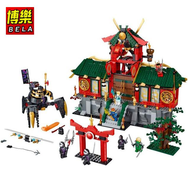 BELA Ninja City Wars Minifigures 122Building Blocks Model Sets Toys Children Ninjagoed 8star - 8 STAR MALL store
