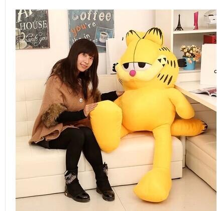 Stuffed animal 100 cm Garfield cat plush toy doll high quality gift present w1264(China (Mainland))