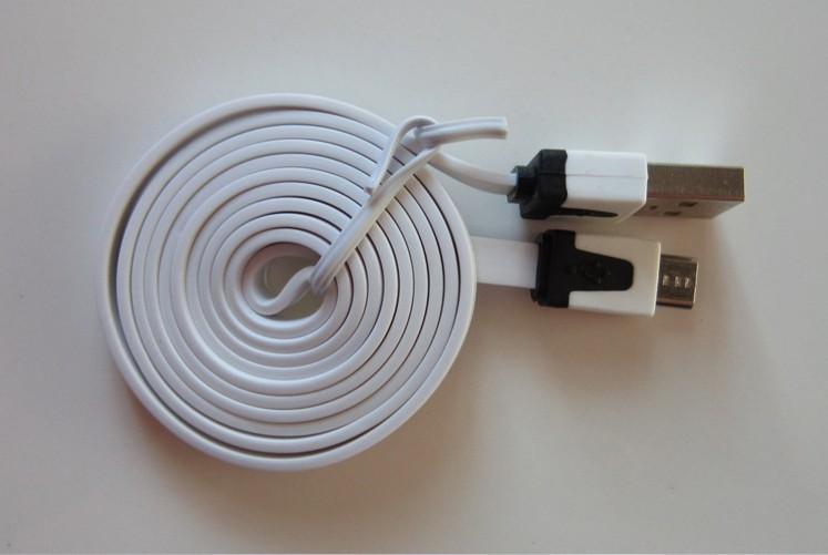 1M Colorful V8 Flat noodle USB Cable Noodle Charger Cord charger cell for smartphone samsung S4()