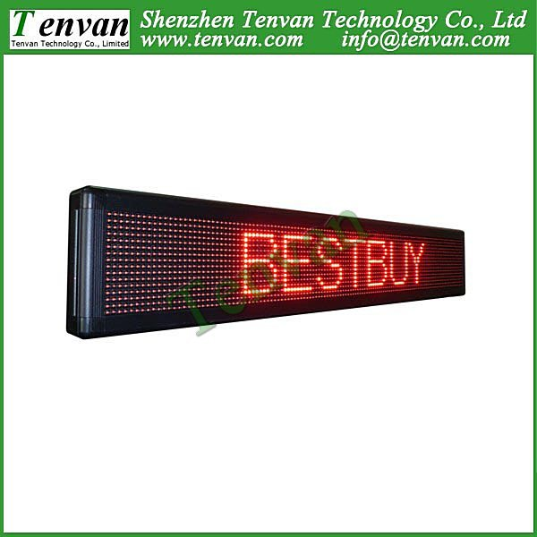 Free shipping scrolling led billboard with red color, high brightness and size 136cm(W)*24cm(H)(China (Mainland))