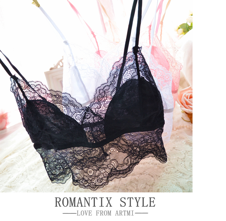 women's underwear female lingerie set transparent bra Japanese confectionery lace sexy kit size 70-85AB(China (Mainland))