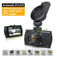 2015 Ambarella A7LA70 B47FS Car DVR Recorder OV4689 with Polarizer Filters GPS Logger LDWS IR Night Vision