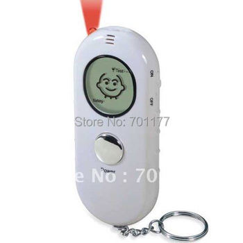 2014 New! Keychain LED Torch 3 Level Digital alcohol breath tester with with cartoon display,breath alcohol tester Free Shipping