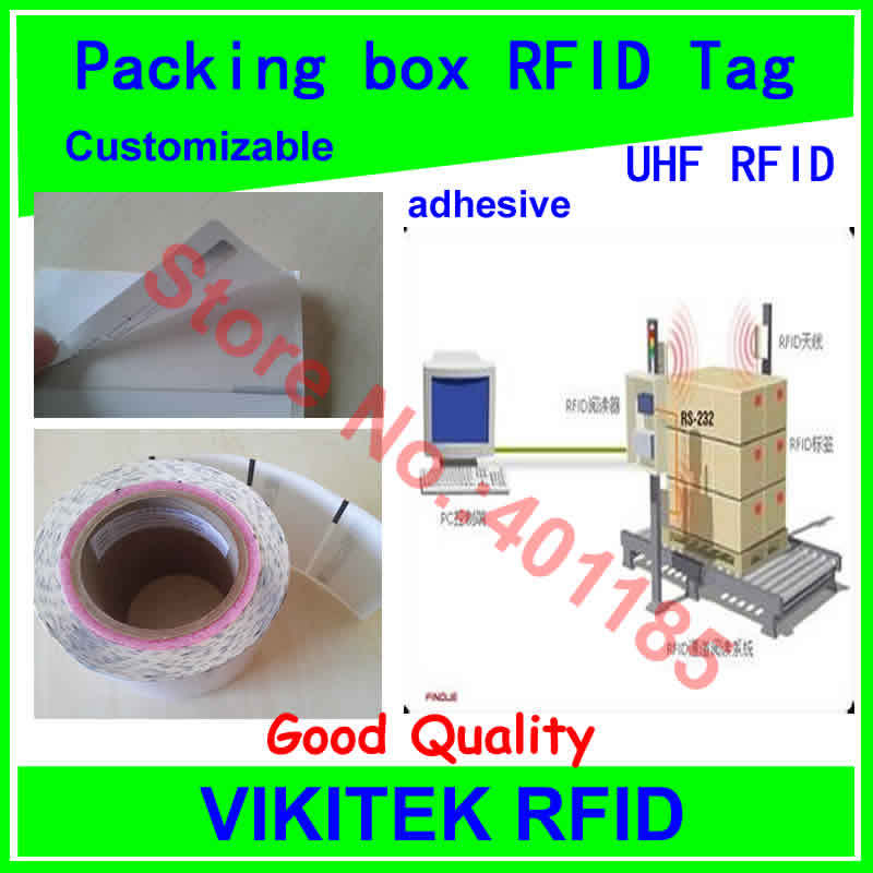 Packing box logistics label UHF RFID tag customizable adhesive printable 860-960MHZ EPC C1G2 ISO18000-6C can be RFID tag labe(China (Mainland))