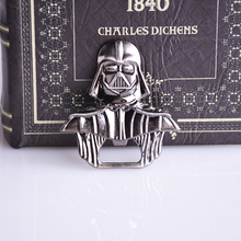 New Hot Movie star wars Darth Vader Bar Beer Bottle Opener Metal Alloy style 6*6 cm model figure Kitchen Tools for souvenirs(China (Mainland))