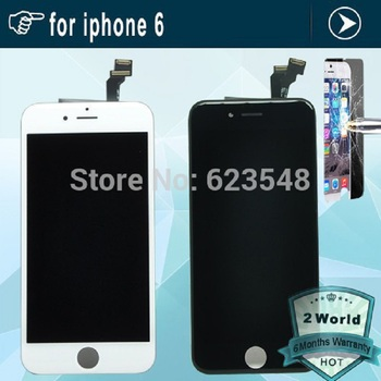 No Dead Pixel LCD Display Digitizer For iPhone 6 4.7 inch Touch Screen Digitizer Assembly For iPhone 6 6G +Tempered glass screen