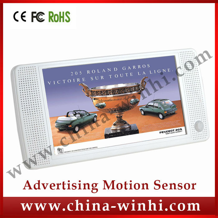 7 inch Motion sensor portable lcd advertising player High Quality Real Supplier Speedy Delivery tft media player shop equipment(China (Mainland))