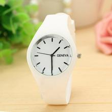 Leisure Sports Candy-colored Jelly Watch Silicone Strap White 2016 Relogio Feminino JL11 Sholesale price OT6 - East Closet store