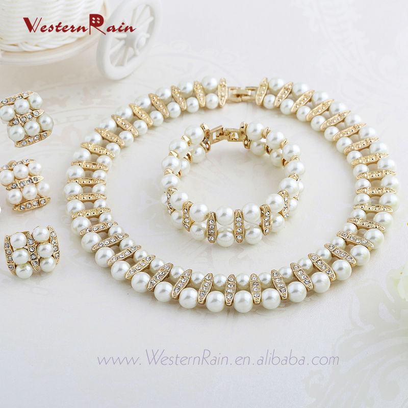 Aliexpress Buy WesternRain 2016 Vintage Chunky Choker Pearl Necklace Sets Ivory Wedding