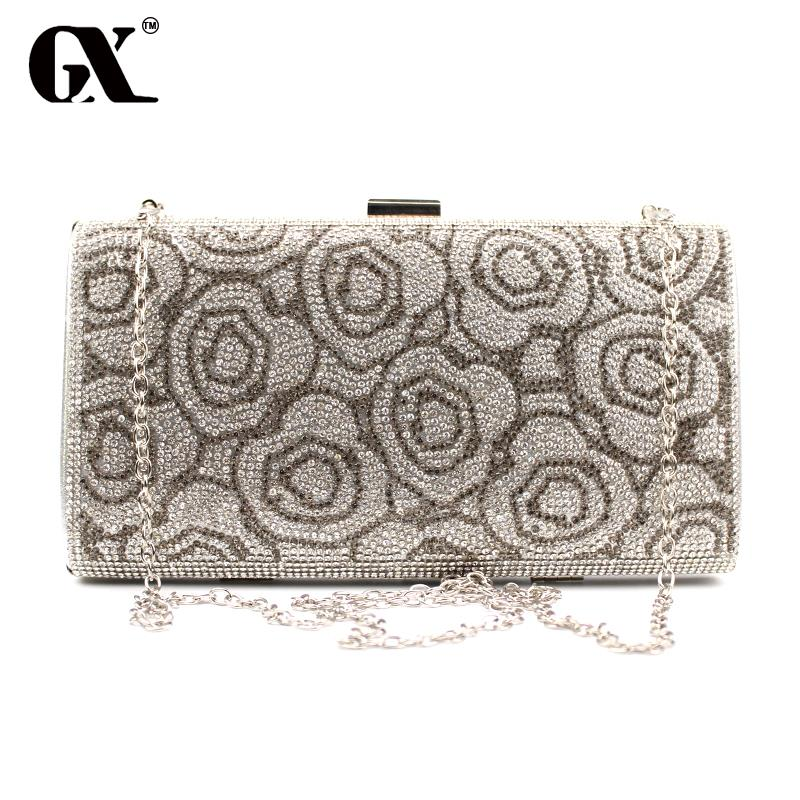 GX Hot Selling Diamonds Day Clutch Purse Evening Bags Mixed Color Rhinestones Evening Bag Small Handbags/Tote/Wallets(China (Mainland))