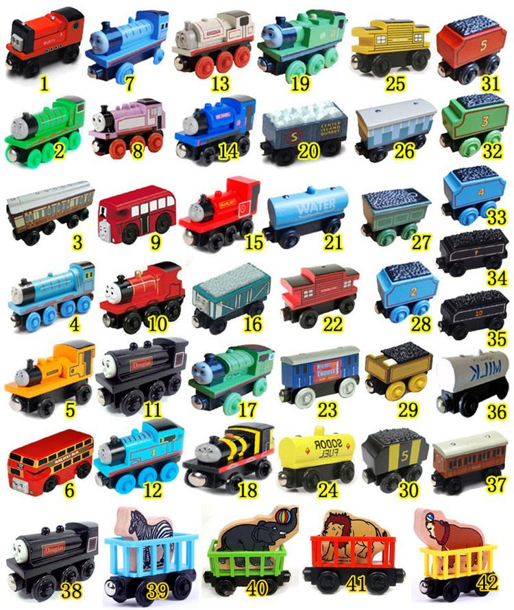 Anime Thomas and His Friends Wooden toys Trains Model Great Kids Christmas Toys Gifts for Children toys for children S3(China (Mainland))