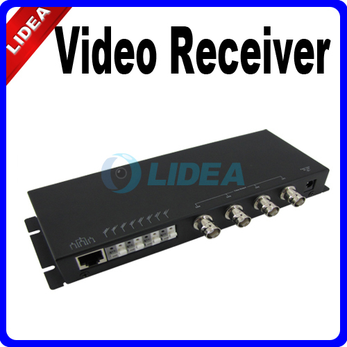 DC 12V 4CH 4 Channel Automatic UTP Video Receiver RJ45 HK B-31(China (Mainland))