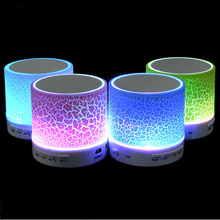 LED Mini Wireless Bluetooth Speaker TF USB FM Portable Music Loudspeakers Hand-free call For iPhone 6 Mobile Phone PC with Mic(China (Mainland))