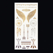 M T020 Wholesale Body Paint tattoo taty Glitter gold tattoo stickers Metal temporary flash tattoos Arabic