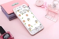 Cartoon cute cat carbon fiber Tempered Glass film Protective for iPhone 6 case 6S 6 Plus