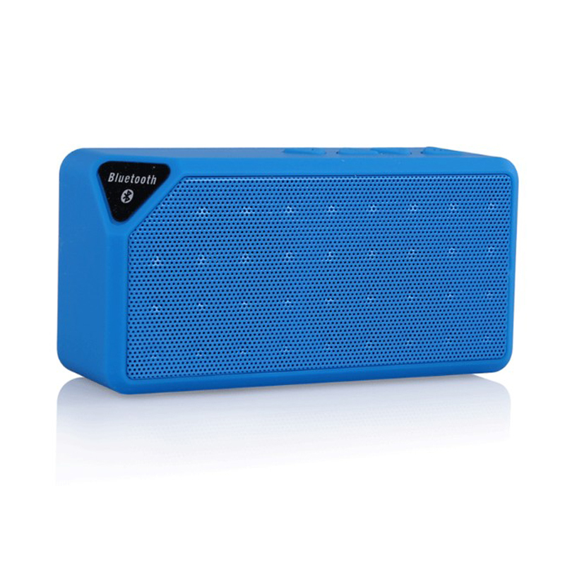 Mini X3 bluetooth speaker portable wireless speakers handsfree TF radio FM built in Mic Subwoofer with detachable battery DHL(China (Mainland))