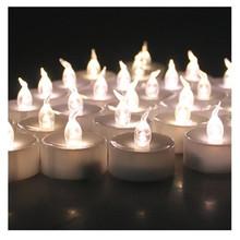 48 шт. теплый белый беспламенные свечи основная чай свеча свечи для свадьбы рождество хэллоуин пасха ну вечеринку на день рождения
