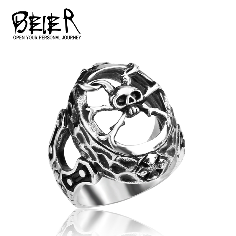 Spide Skull Customized Ring For Man Stainless Steel Personality Ring fro Men BR8176(China (Mainland))