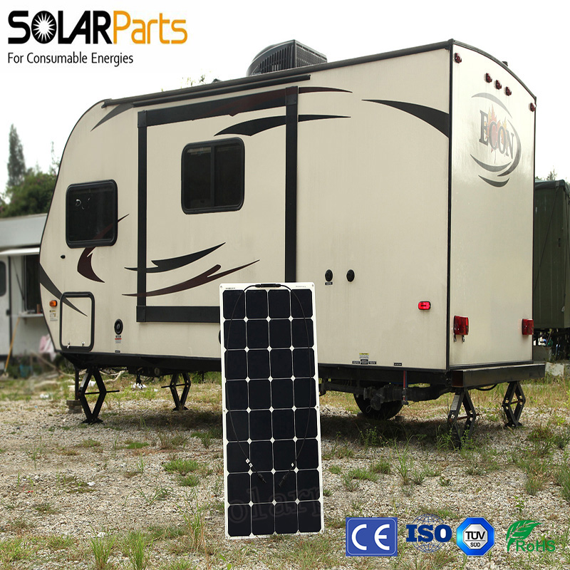 Solarpats 1pcs 100W high efficiency semi flexible PV solar panels power cell modules for Boat/Golf cart/Baterry/charger/lights(China (Mainland))