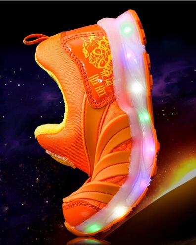 2015 мода из светодиодов свет высокое качество детская обувь милые мальчики для девочек свободного покроя спокойные дети обувь туфли-детей кроссовки