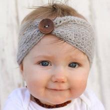 Buy Newborn Turban Ear Winter Warm Button Headband Crochet Knitted Headwear Kids Hairband Headwrap Hair Band Accessories for $1.29 in AliExpress store