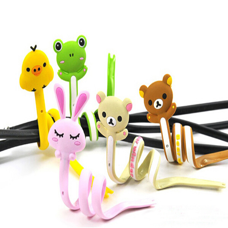 2014 New Cartoon Long Wrap Headphone Earphone Cable Cord Wire Winder Organizer Drop Shipping DPWI5489(China (Mainland))