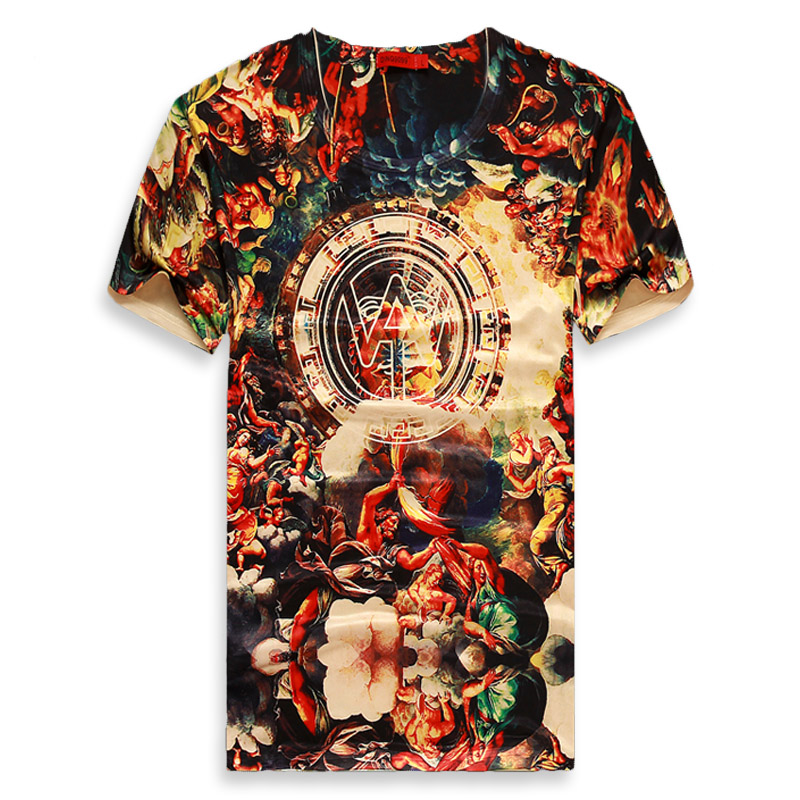 Top Quality New Summer Men 3d T shirt Short Sleeve O Neck Printed 3D T Shirt Men Brand Cotton T-shirts 2015 Tees Mens ClothingОдежда и ак�е��уары<br><br><br>Aliexpress