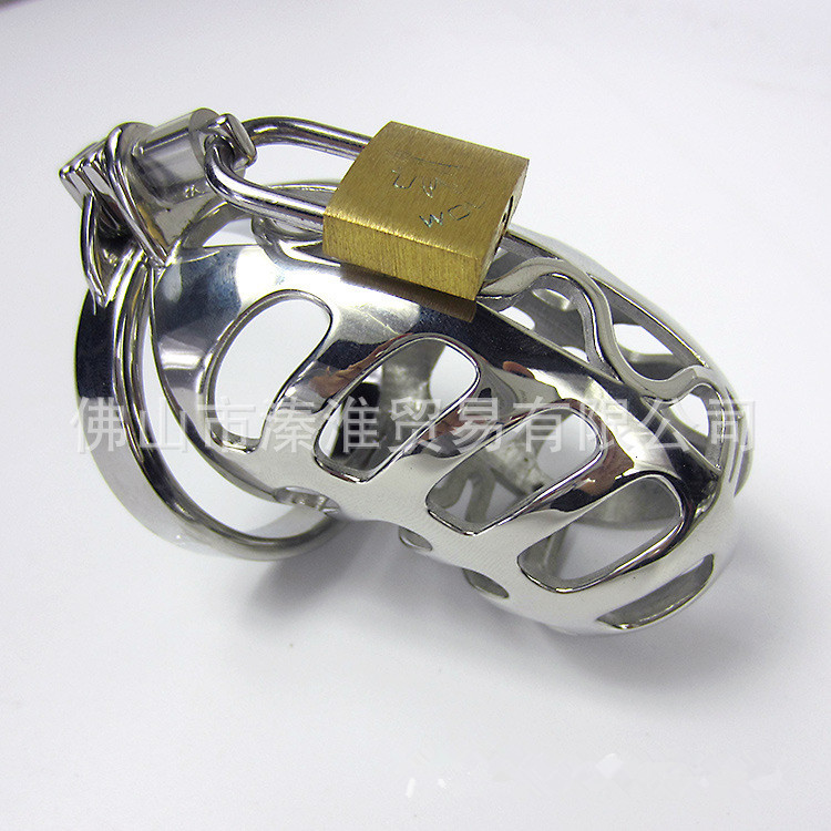 New Stainless steel male chastity device,cock cage size:8.5*3.5cm, 5 cock rings choose,High-end sex products for men cockring(China (Mainland))