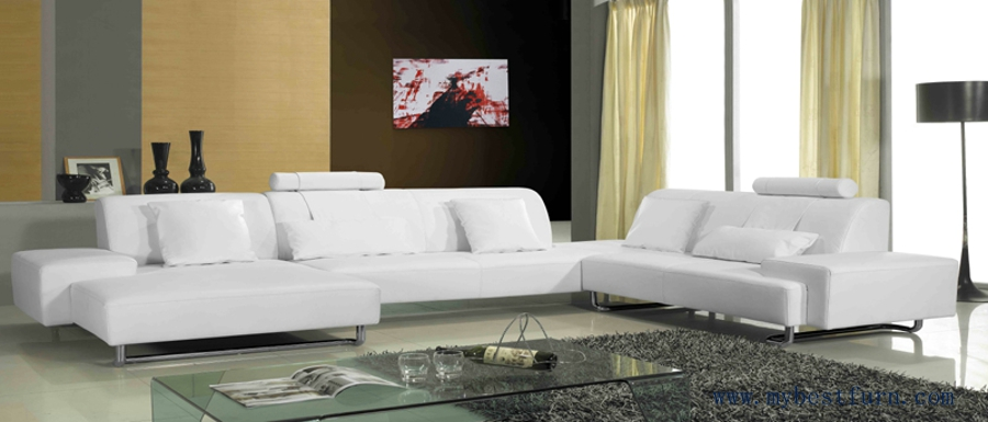 Free shipping modern design living room sofa set made U shaped living room layout