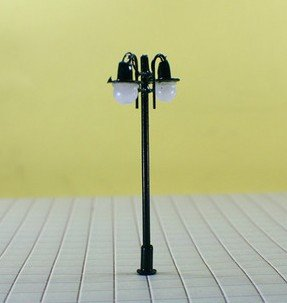 200pcs hot sale HO scale mdoel lamp 1/100, copper lamppost for train layout(China (Mainland))