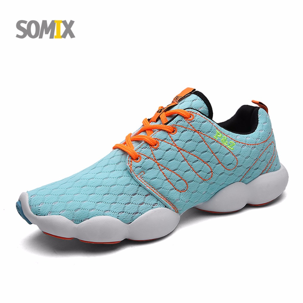 Somix Brand Sport Shoes Light Running Shoes 2016 Summer Breathable Sneakers Men Comfortable Athletic Shoes Women Free Shipping(China (Mainland))