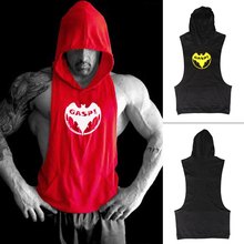 Sleeveless Hoodies Muscle Beach Sexy Stringer Hoodie GASP ZYZZ Gym Tank Top Men Vest Bodybuilding Clothing Sweatshirts Clothes(China (Mainland))