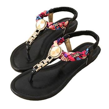 2015 летний стиль бисером сандалии летние обувь женская мода богемии сандалии бесплатная доставка A311-3