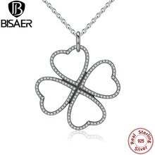 Authentic 925 Sterling Silver Petals of Love Pendant Chain Necklace & Pendants & Collares Choker for Women Silver Fine Jewelry(China (Mainland))