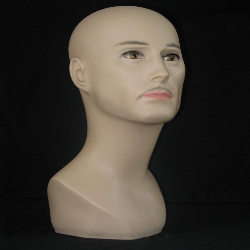 Realistic male Mannequin Head For Wigs,Hat,Sunglass Display PE Dummy Styrofoam Wig Heads Men Mannequin With Makeup Manikin Head<br><br>Aliexpress