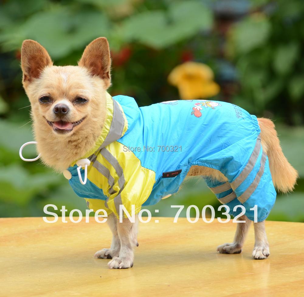 2014 High Quality 2 Layers Waterproof Pet Dog Sports Raincoat Four Legs(China (Mainland))