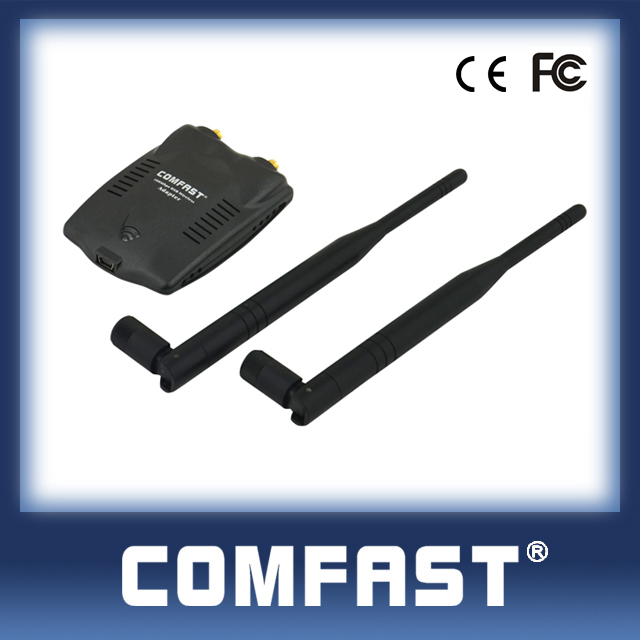 free shipping300Mbps double antenna 2.4GHz COMFAST CF-WU7200ND 5dBi ethernet wireless wifi signal adapter Internet transmitter(China (Mainland))