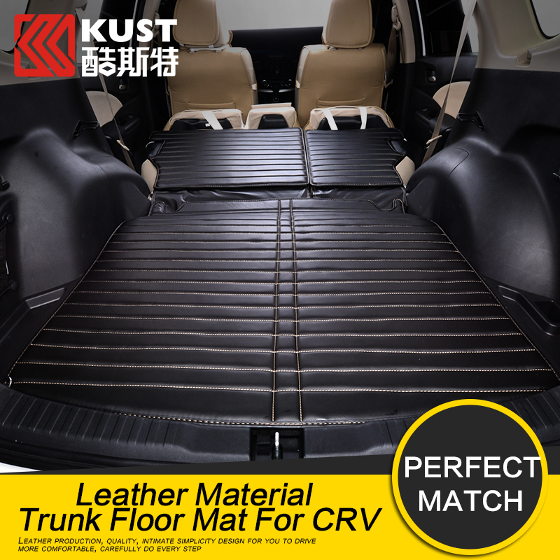 KUST Leather Material Trunk Floor Mat For Honda For CRV 2015 Car Protective Trunk Floor Mat For CRV 2015 Interior Accessories