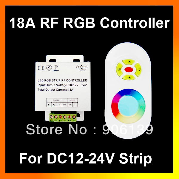 Wholesale DC 12V-24V 18A Wireless RF Touch Panel RGB LED Remote Controller For Strip light(China (Mainland))
