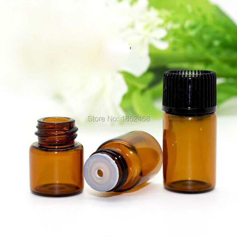 Bottle Suppliers 5/8 Dram Vials SALE Essential Oil Amber Glass Vials w/Orifice Reducers 2ml perfume Sample glass Bottles For Oil(China (Mainland))