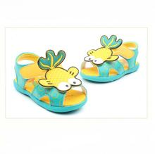 Fashion Baby Girls Summer Sandals Kids Flower Anti-slip Soft Sole Infant Shoes Babe First Walkers Footwear goldfish girls shoes(China (Mainland))