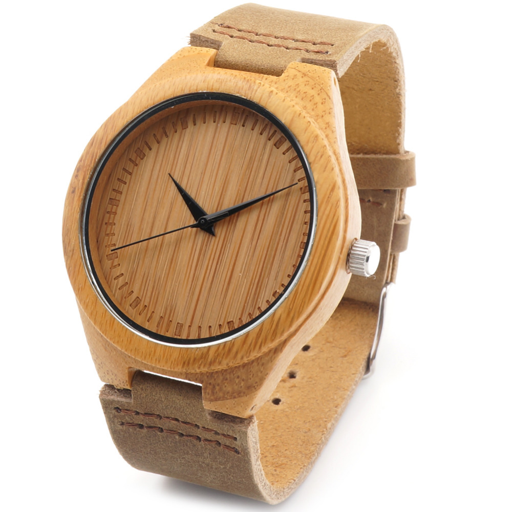 Bobobird RT0455 Lovers Vintage Design Brand Luxury Wooden Bamboo Watches With Real Leather Quartz Watch in Gift Box<br><br>Aliexpress