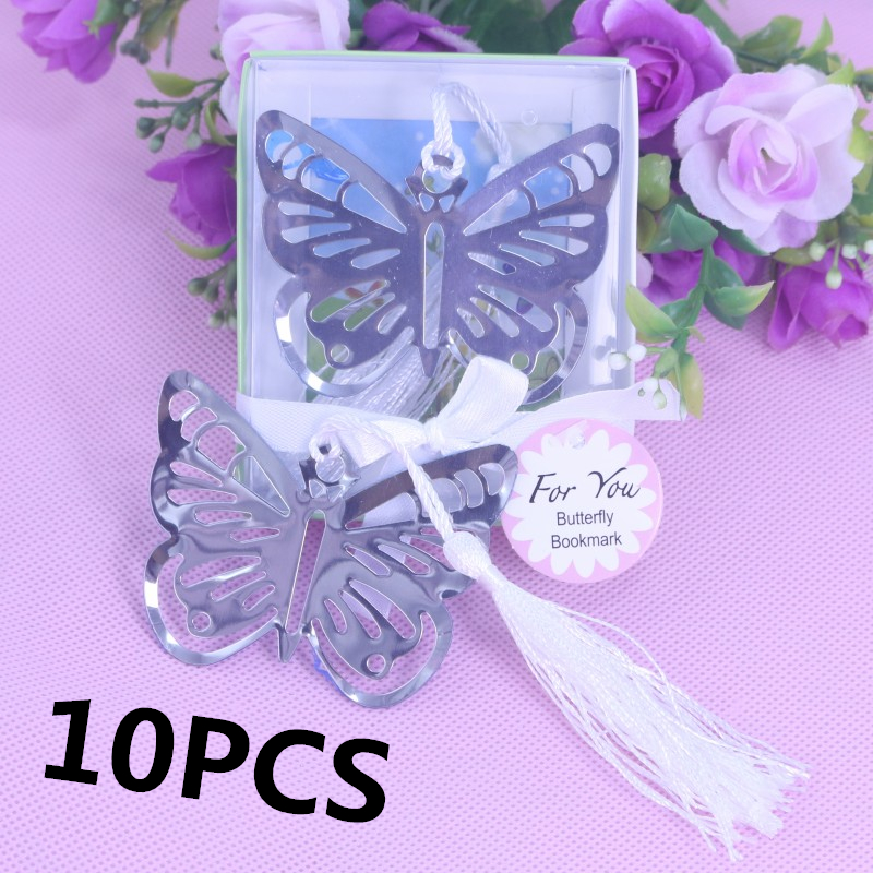 10PSC Butterfly Metal Bookmarks Baby Shower Souvenirs Girl