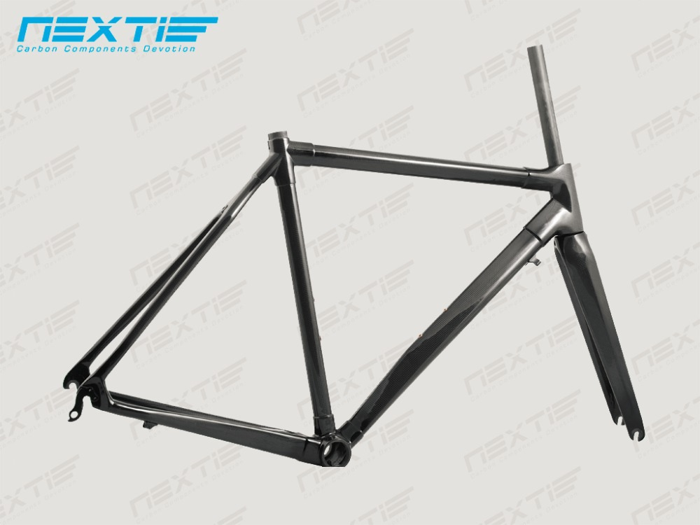 Nextie Bike - Carbon Fiber Road Bike Frame with Fork and Headset Internal Top/External Down Tube Cable 480-560mm Size [NXTRF02](China (Mainland))